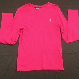 📦5/$20📦Ralph Lauren Sport pink shirt. sz L